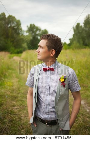 Portrait Of Handsome Young Man Smartly Dressed