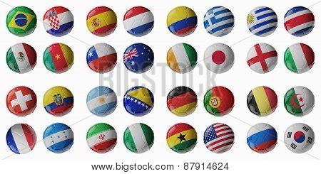 Football Championship 2014. Football/soccer Balls.