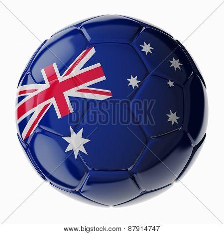 Soccer Ball. Flag Of Australia