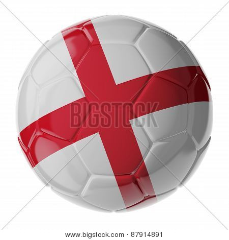 Soccer Ball. Flag Of England