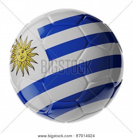 Soccer Ball. Flag Of Uruguay