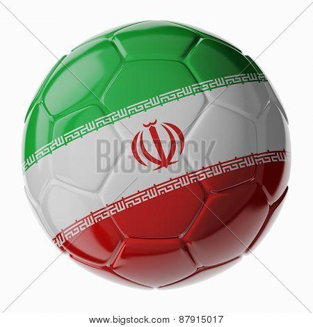 Soccer Ball. Flag Of Iran