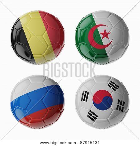 Football Worldcup 2014. Group H Football/soccer Balls.