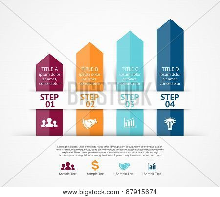Vector arrows infographic. Template for diagram, graph, presentation, chart. Business concept with 4
