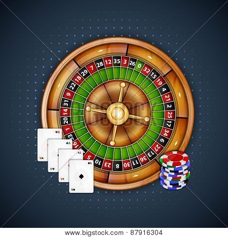 Cards, chips and roulette