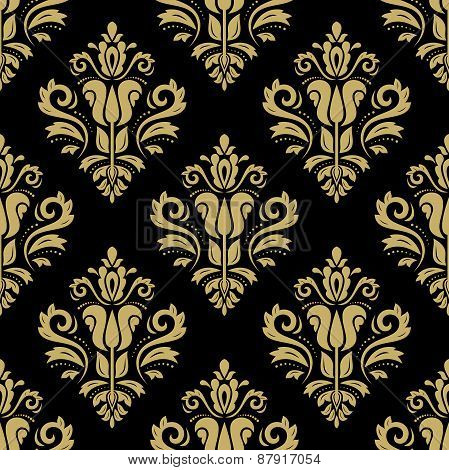 Pattern in the style of Baroque. Abstract  Golden Background