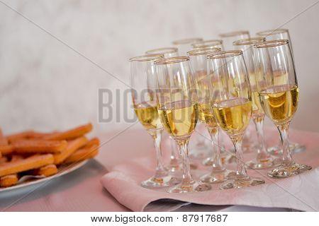 Filled Champagne Glasses