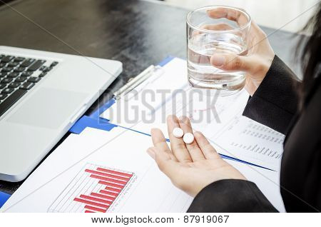 Medicine and glass of water