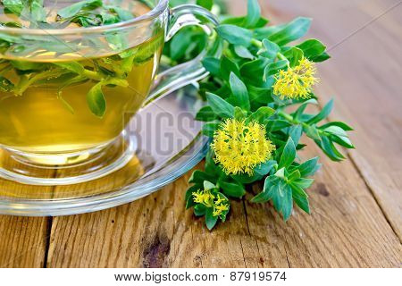Herbal tea and Rhodiola rosea on board