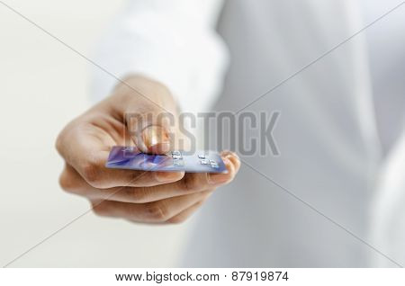 Giving credit card