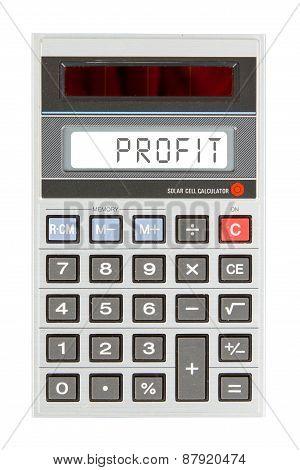 Old Calculator - Profit