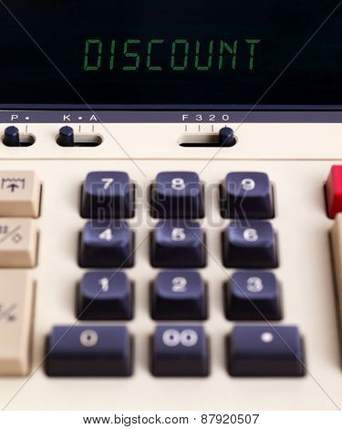 Old Calculator - Discount