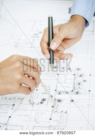 Working on blueprint
