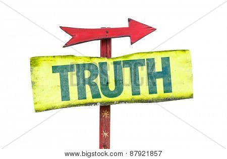 Truth sign isolated on white