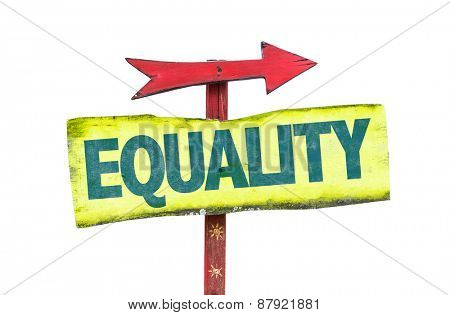 Equality sign isolated on white