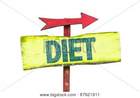 Diet sign isolated on white