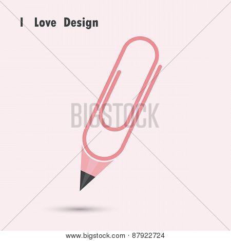 Pencil Paper Clip Shape