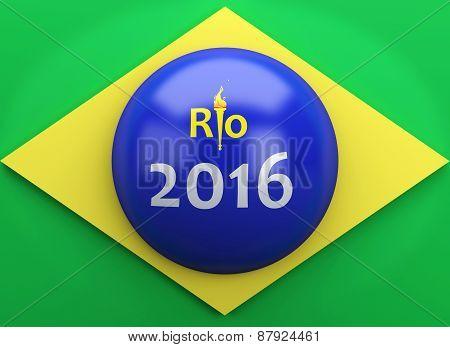 3d Brazil flag.