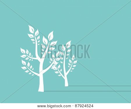 Tree growth eco concept Background. Retro Concept Vector Illustration