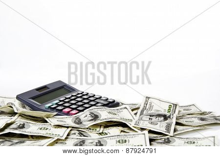 Calculator on hundred of US dollars