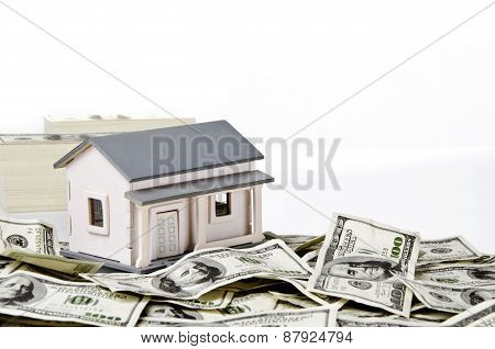 Model house on hundred of US dollars