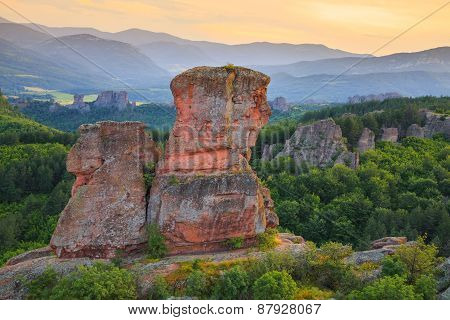 Belogradchik Rocks At Sunset