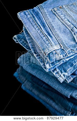 Piled Denim jeans