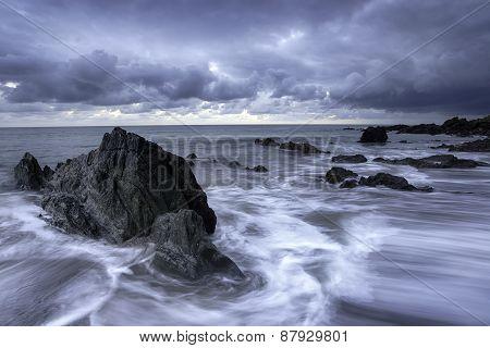 Grey Skies On The Cornish Coast