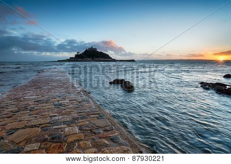 Sunset At Marazion