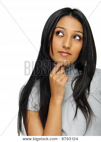Indian Thoughtful Girl