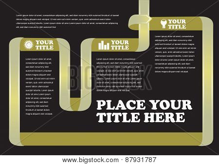 Turning Ribbon Background Page Layout