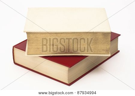 Stack of two thick books
