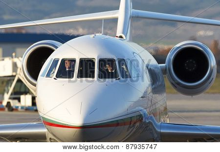 Bulgaria's Government Falcon Airplane