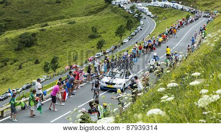 The Cyclist Tom Dumoulin On Col De Peyresourde - Tour De France 2014