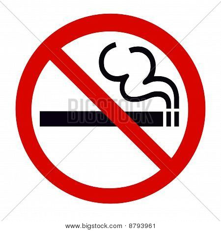 No Smoking Zone Sign isolated on White