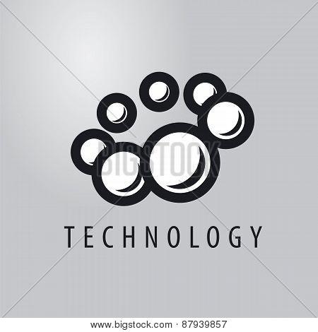 Vector Logo Balls Fly In A Circle