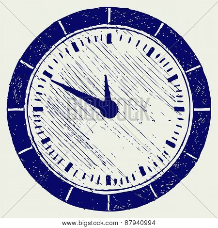 Clock. Doodle style