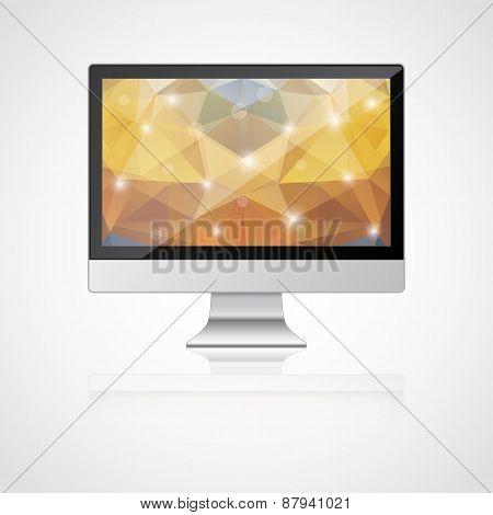 Vector realistic monitor