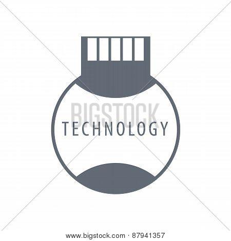 Vector Logo Sim Card Technology
