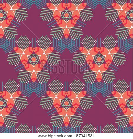 Abstract Colorful Seamless Geometric Mosaic. Pattern for Abstract Cards, Backgrounds,  Banners, Placards and Posters Designs.