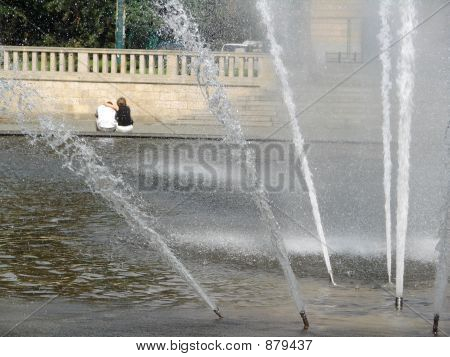 Couple And Fountain