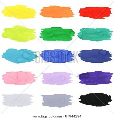 Watercolor Blots, Vector Illustration