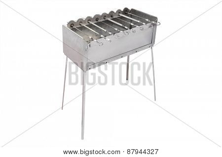 Barbecue under the white background