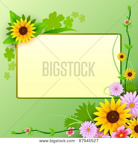 Floral background with blank space