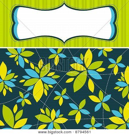 grün hintergrund mit Blumen, vector