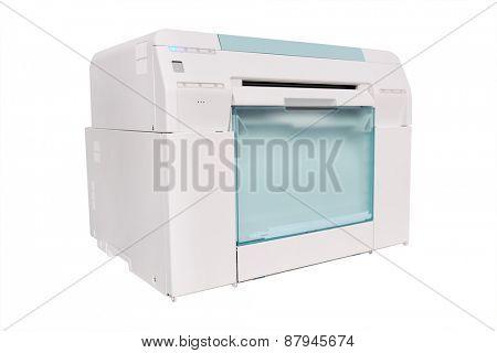Grey Photo Printer on white background