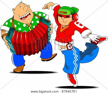 Rap Dancer And Accordion