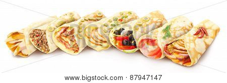 Collection Of Stuffed Crepes