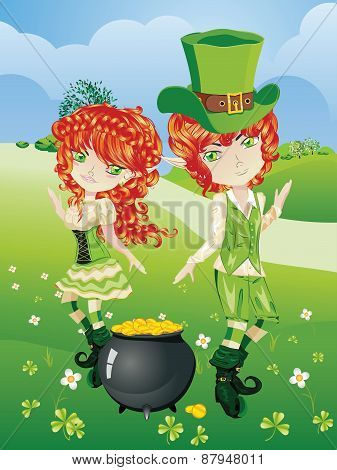 Leprechaun Boy And Girl