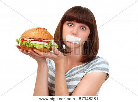 Portrait Of Girl On Diet